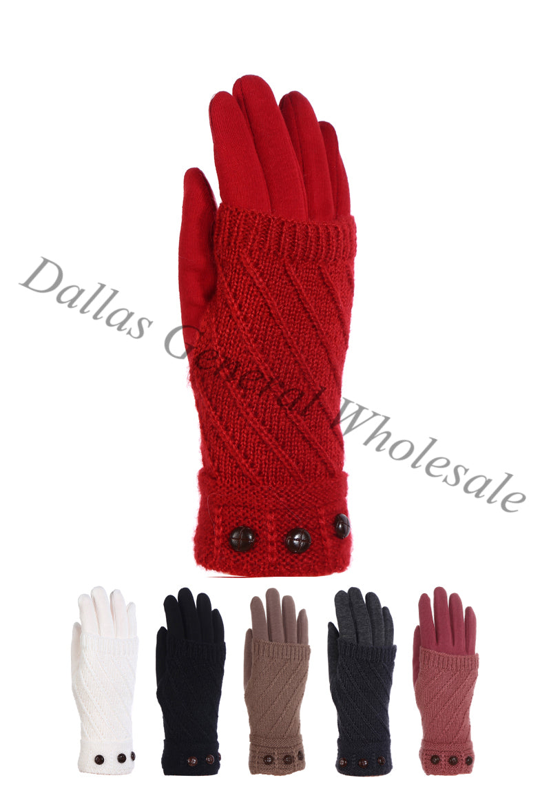 Ladies 2-IN-1 Fashion Gloves Wholesale