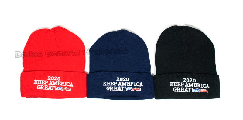 Trump 2020 Beanies Hats Wholesale - Dallas General Wholesale