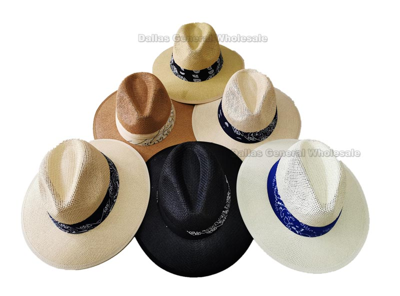 Adults Panama Straw Dress Hats Wholesale
