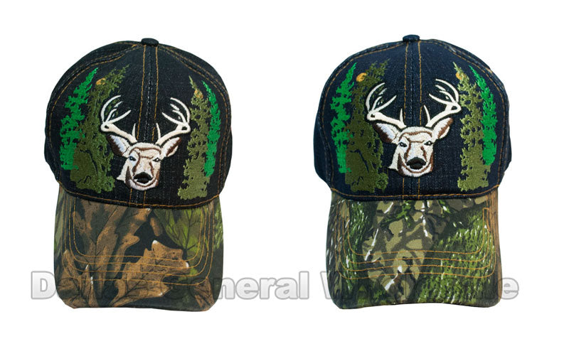 Deer Design Camouflage Fashion Denim Caps Wholesale - Dallas General Wholesale