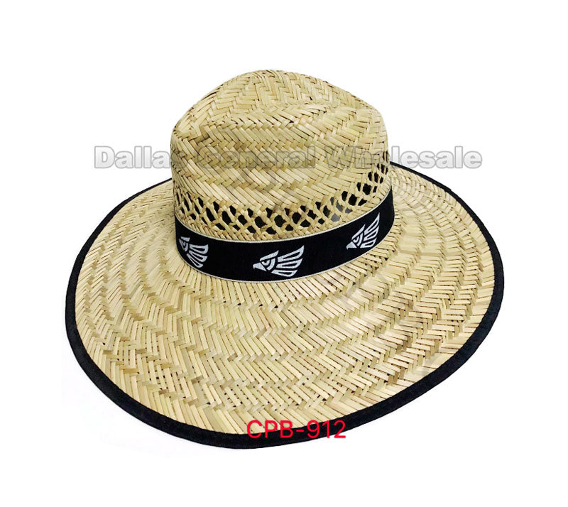 Adults Summer Mexico Eagle Straw Hats Wholesale - Dallas General Wholesale