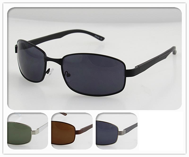 Men Classic Design Metal Frame Sunglasses