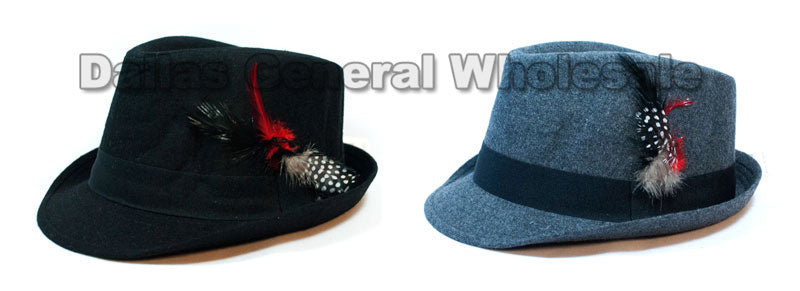 Wool Fedora Hats with Feather Wholesale - Dallas General Wholesale