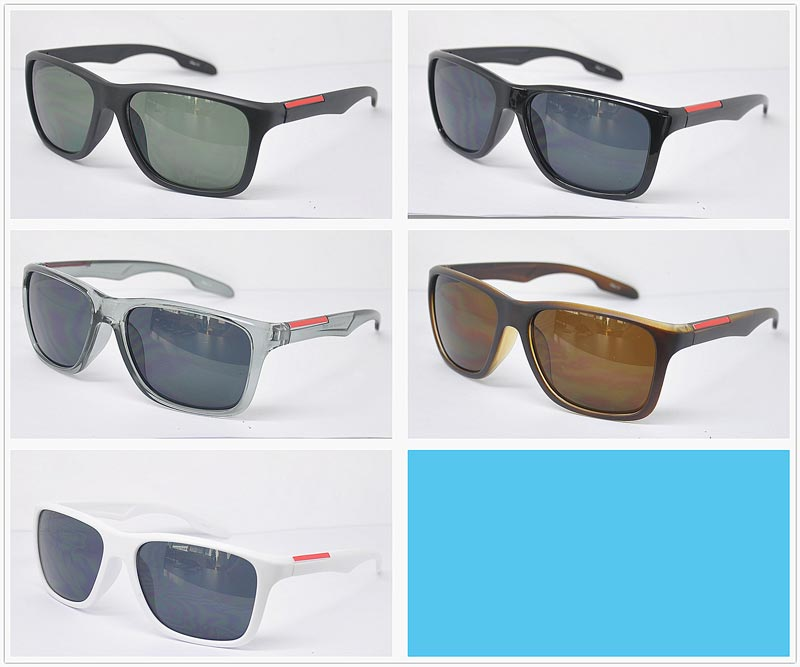 Men Plastic Frame Sunshades Wholesale