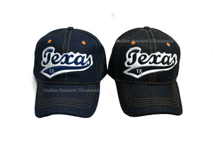"""Texas""Jeans Casual Baseball Caps - Dallas General Wholesale"