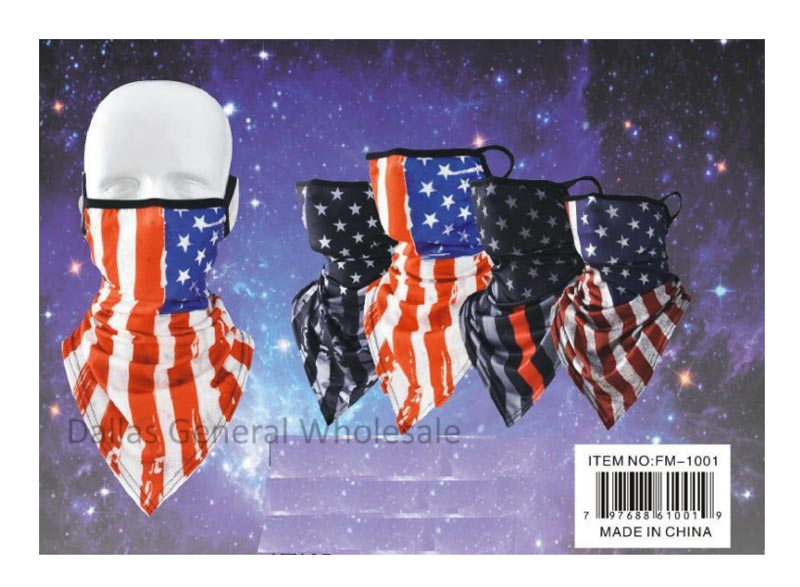 USA Flag Half Face Masks Balaclavas Wholesale