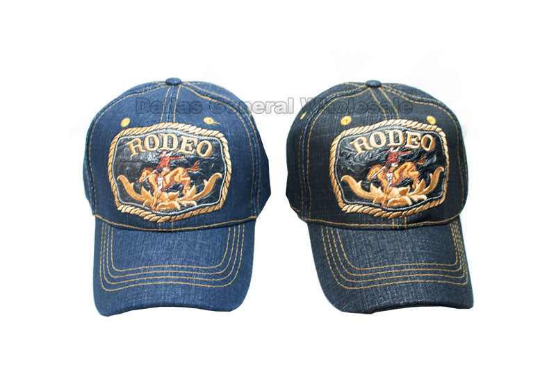 """Cowboy Rodeo"" Casual Denim Caps Wholesale - Dallas General Wholesale"