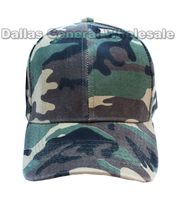 Green Camouflage Casual Ball Caps Wholesale - Dallas General Wholesale