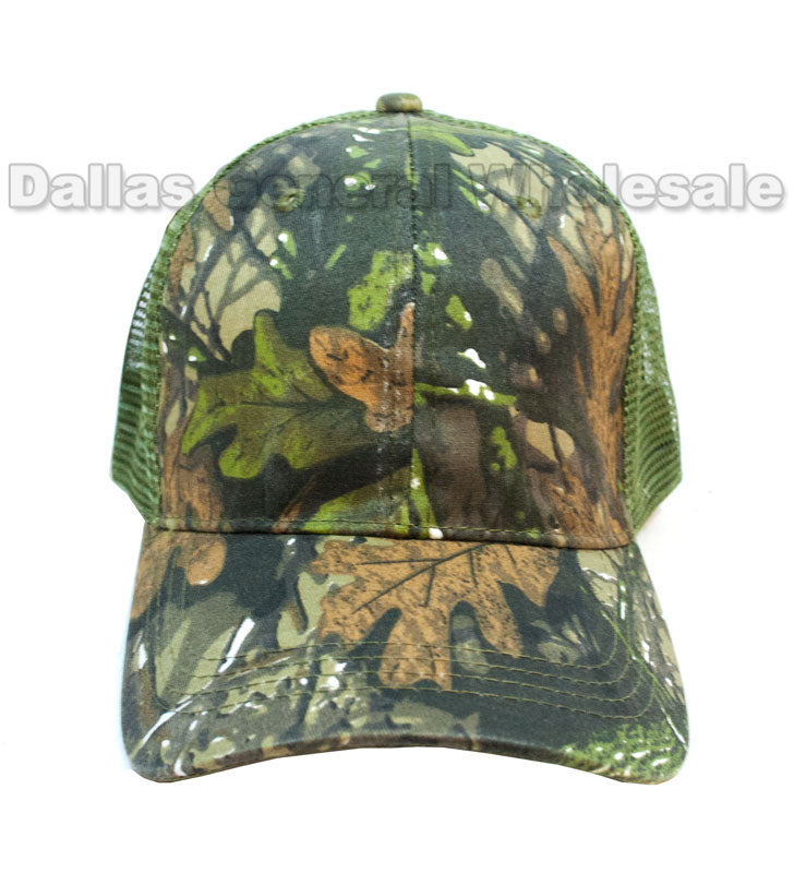 Forest Camouflage Mesh Ball Caps Wholesale - Dallas General Wholesale