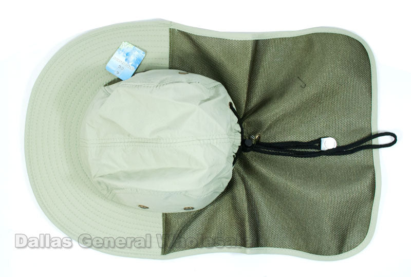 Casual Bucket Hats w/ Vented Neck Cover Wholesale - Dallas General Wholesale