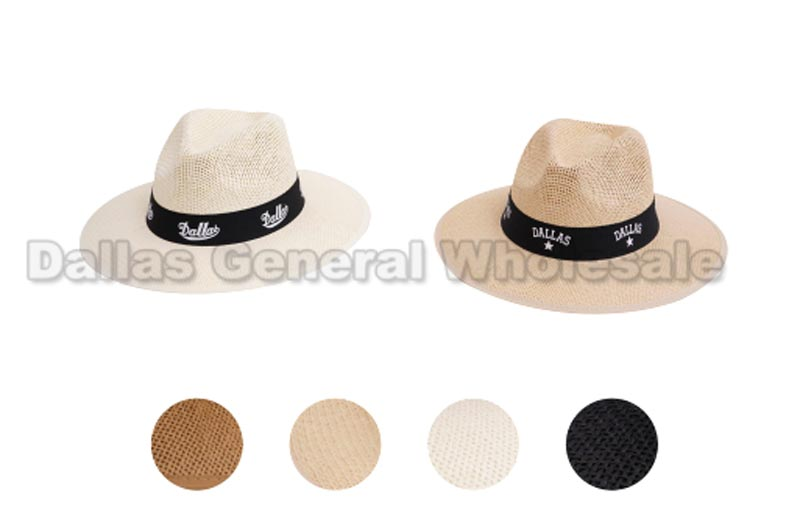 Men Dallas Panama Straw Dress Hats Wholesale