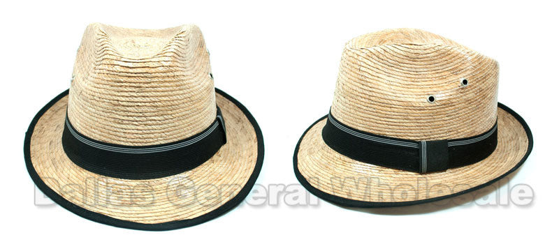 Men Summer Straw Dress Hats Wholesale - Dallas General Wholesale