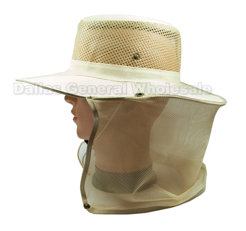 Mesh Bucket Hats with Vented Neck Cover Wholesale - Dallas General Wholesale