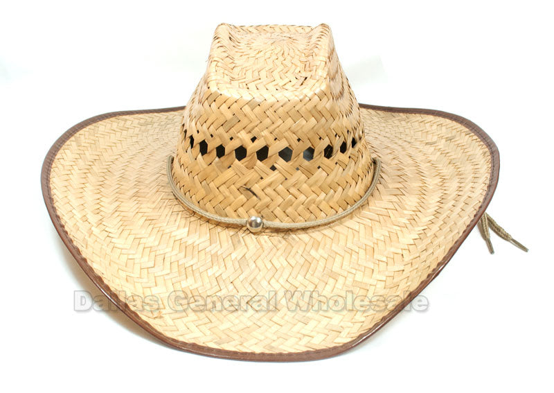 Vented Sombrero Straw Hats Wholesale - Dallas General Wholesale