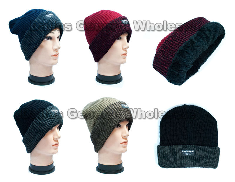 Fur Insulted Thermal Beanies Caps Wholesale - Dallas General Wholesale