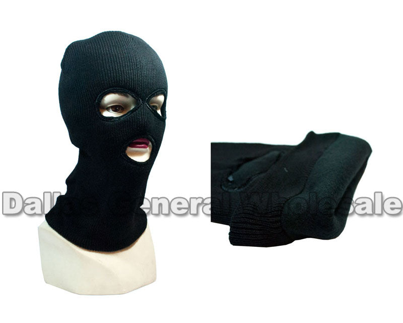3 Hole Fleece Lining Skiing Beanie Masks Wholesale - Dallas General Wholesale
