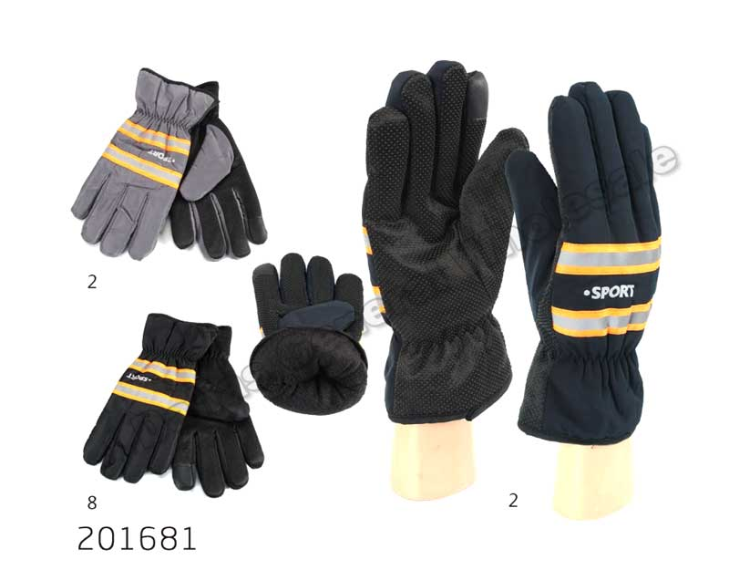 Men Fleece Insulated Reflective Gloves Wholesale - Dallas General Wholesale