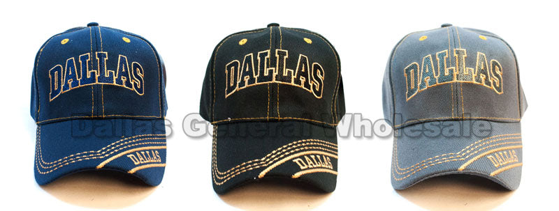 """Dallas"" Casual Baseball Caps Wholesale - Dallas General Wholesale"