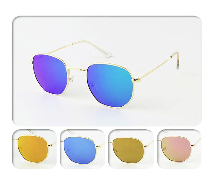 Aviator Mirror Lenses Sun Shades Wholesale - Dallas General Wholesale