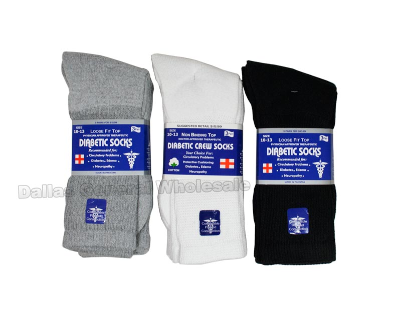 Adults Diabetic Socks Wholesale - Dallas General Wholesale