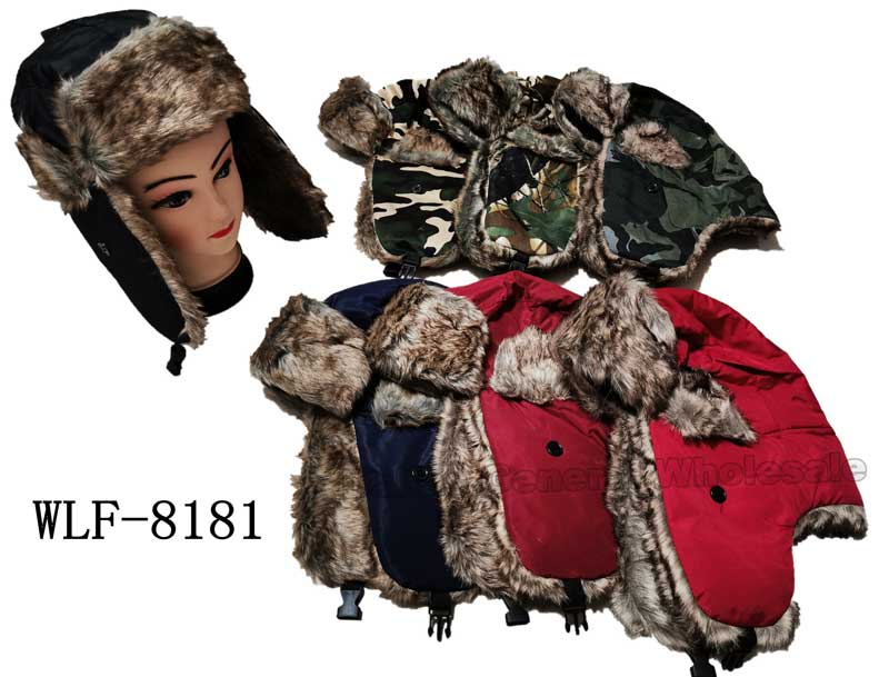 Fur Insulated Bomber Aviator Hats Wholesale - Dallas General Wholesale
