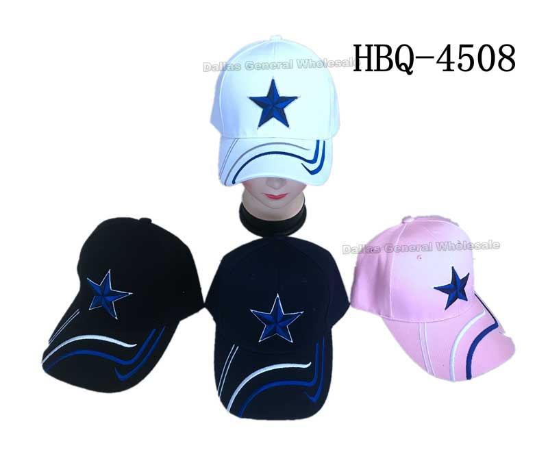 """DALLAS Star"" Casual Baseball Caps Wholesale - Dallas General Wholesale"