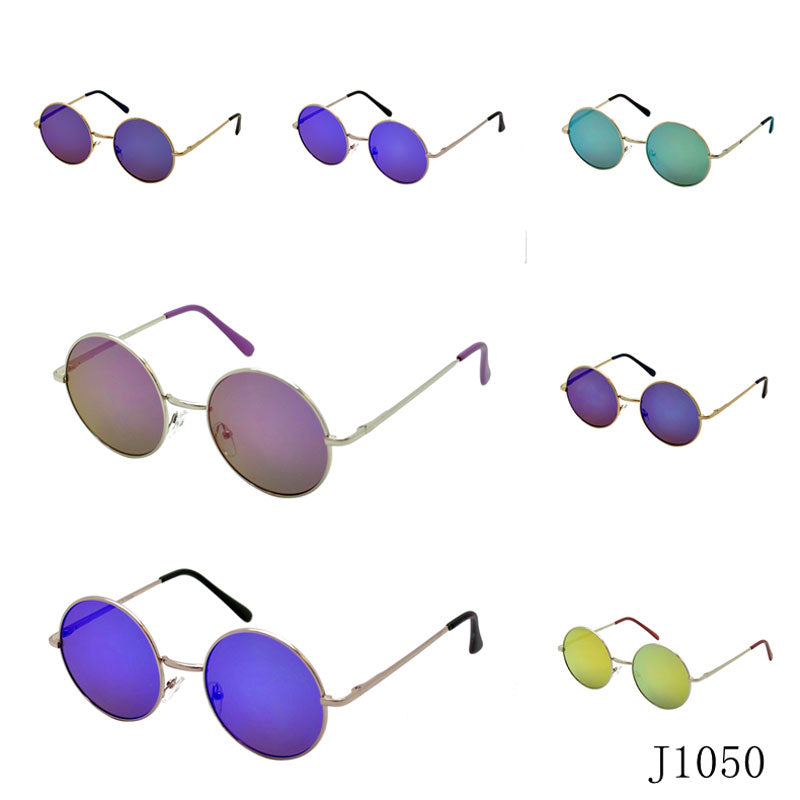 Round Mirror Lenses Sunglasses Wholesale - Dallas General Wholesale