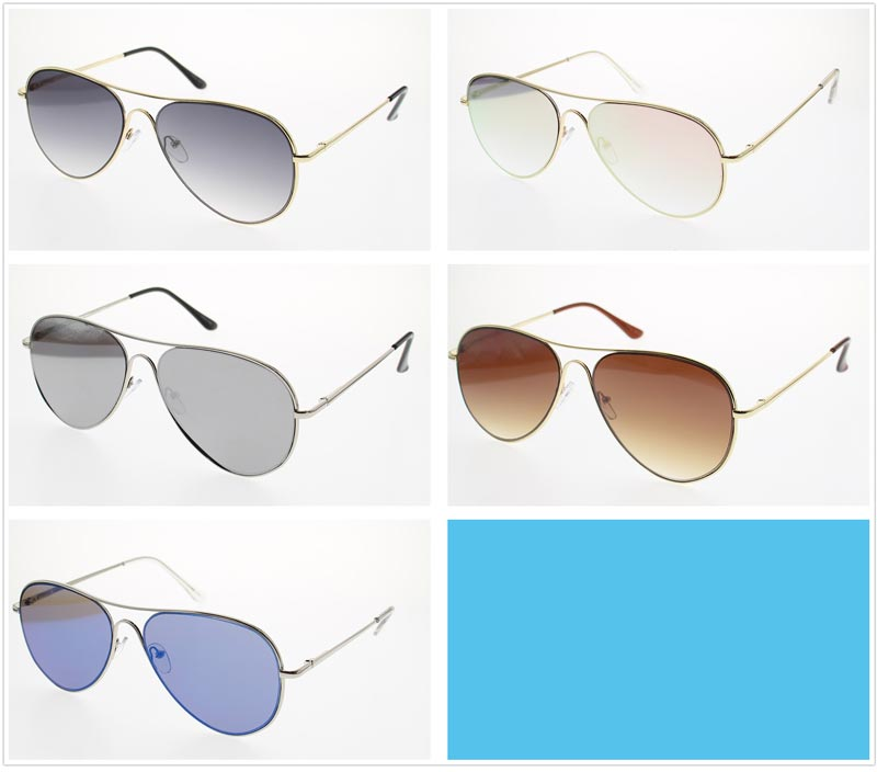 Adults Aviator Metal Frame Sunglasses Wholesale