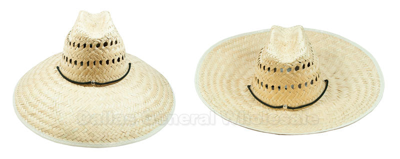 Foldable Vented Sombrero Straw Hats Wholesale - Dallas General Wholesale
