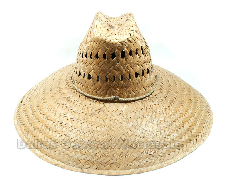 Vented Large Sombrero Straw Hats Wholesale - Dallas General Wholesale
