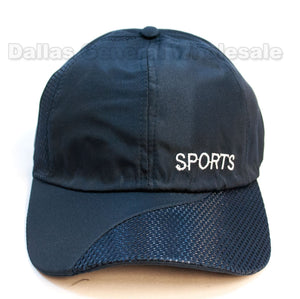 """Sports"" Waterproof Casual Caps Wholesale - Dallas General Wholesale"