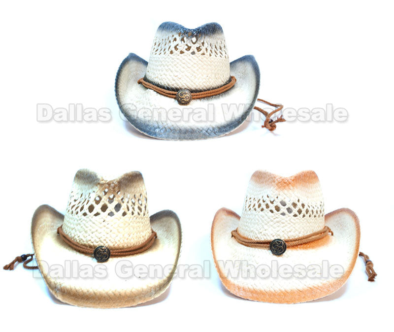 Adults Fashion Straw Cowboy Hats Wholesale - Dallas General Wholesale