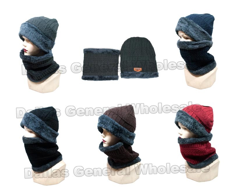 Adults Beanie with Scarf Gift Sets Wholesale - Dallas General Wholesale