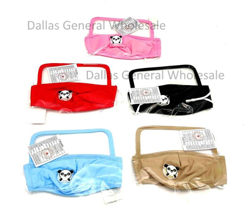 Kids Cotton Face Masks w/ Velve & Eye Shield Wholesale