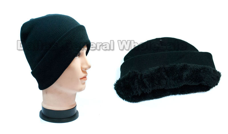 Trendy Knitted Thermal Beanies Caps Wholesale - Dallas General Wholesale