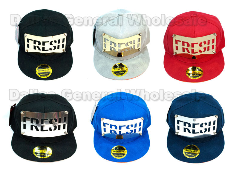 """FRESH"" Trendy Snap Back Caps Wholesale - Dallas General Wholesale"