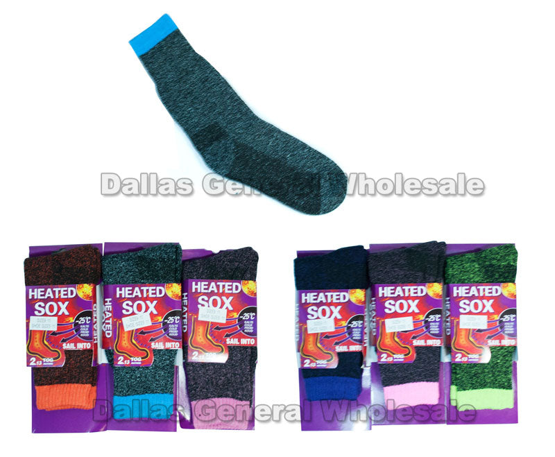 Women Thermal Crew Socks Wholesale - Dallas General Wholesale