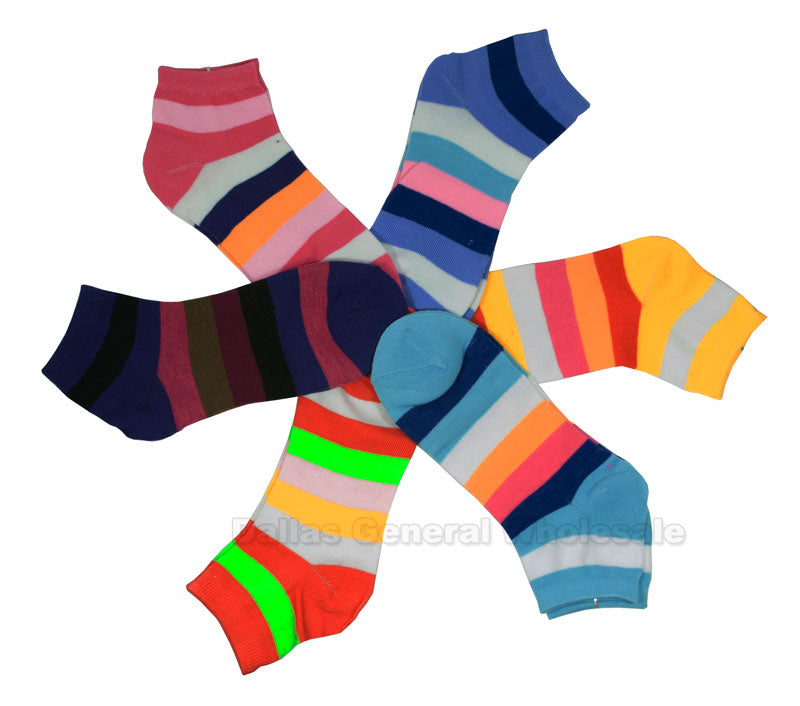 Girls Fun Casual Ankle Socks Wholesale - Dallas General Wholesale