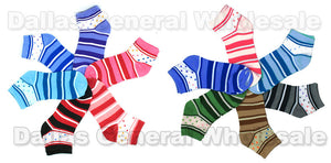 Girls Printed Casual Fun Socks Wholesale - Dallas General Wholesale