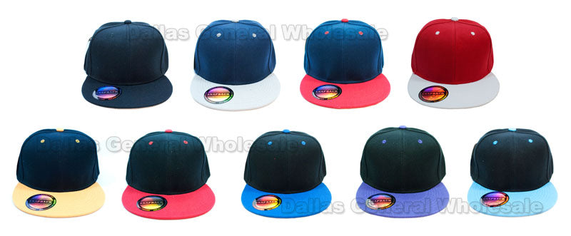 Snap Back Flat Bill Blank Caps Wholesale - Dallas General Wholesale