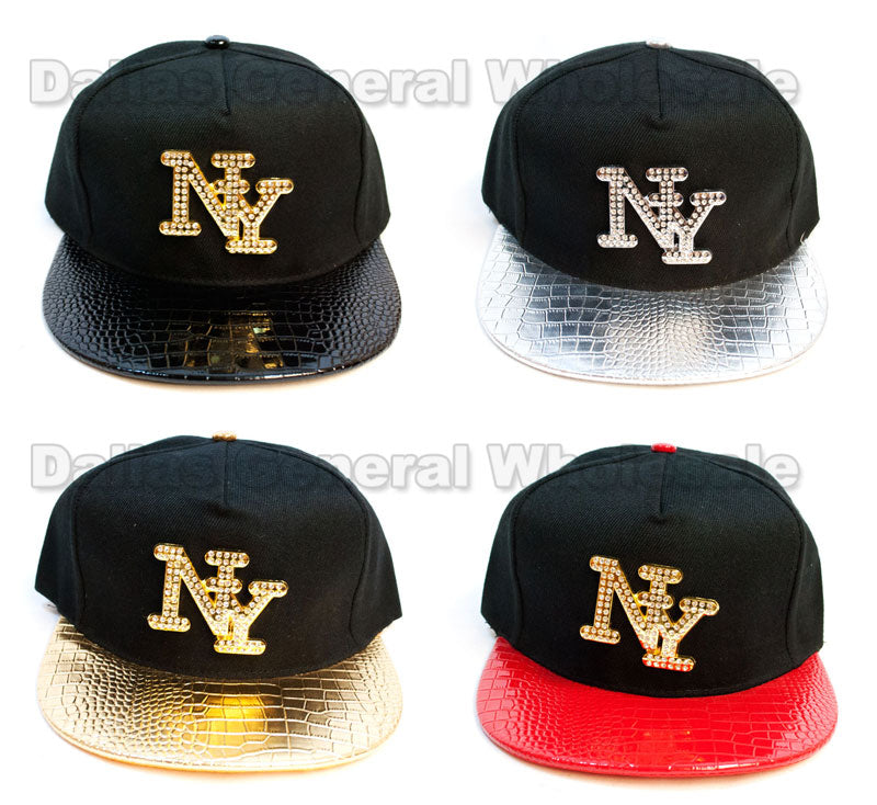 """NY"" Trendy Snap Back Caps Wholesale - Dallas General Wholesale"