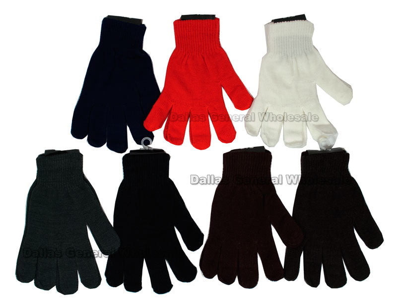 Adults Winter Knitted Gloves Wholesale - Dallas General Wholesale
