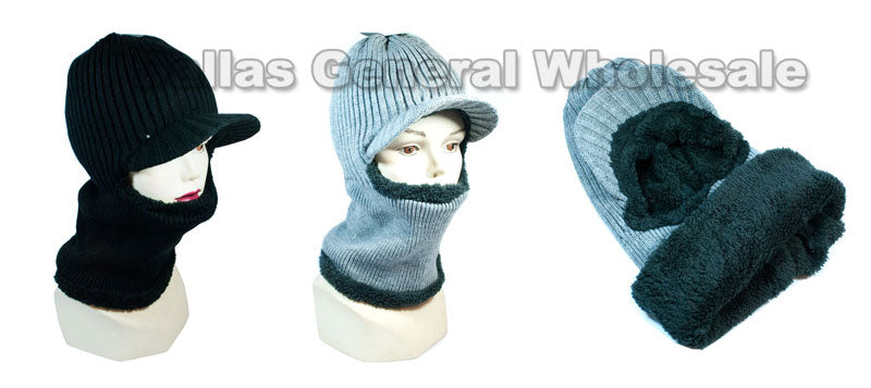 Fleece Lining Visor Beanie Masks Wholesale - Dallas General Wholesale