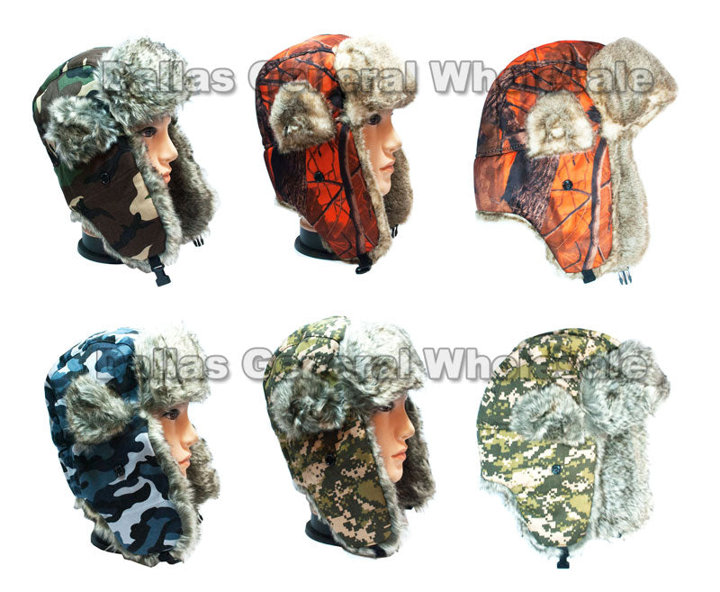 Camouflage Trooper Aviator Hats Wholesale - Dallas General Wholesale