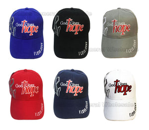"""God Gives Hope"" Adults Casual Caps Wholesale - Dallas General Wholesale"