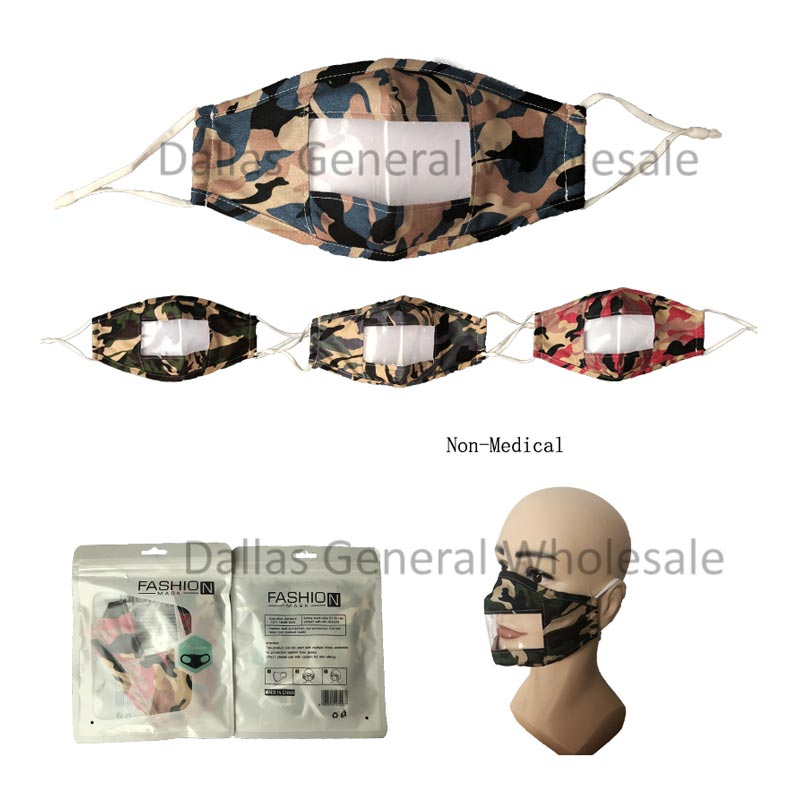 Adults Clear Shield Cotton Face Masks Wholesale