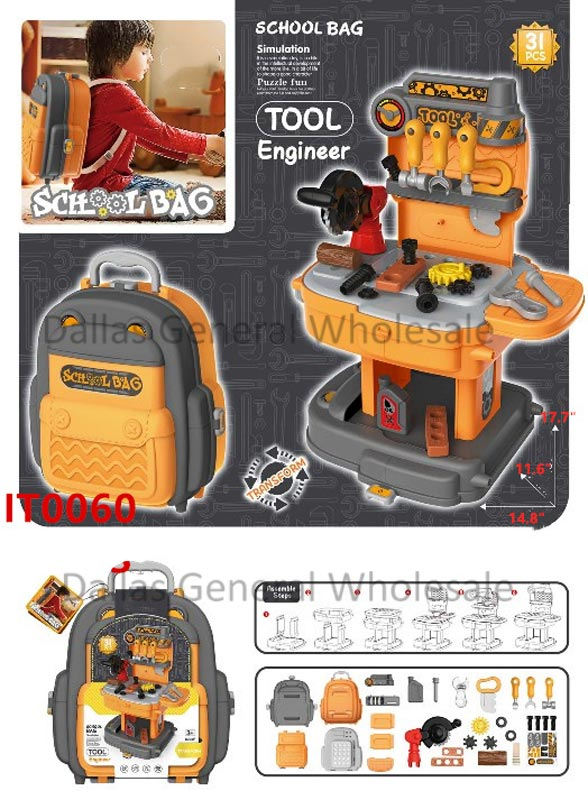 Toy Tools Station Backpack Play Set Wholesale