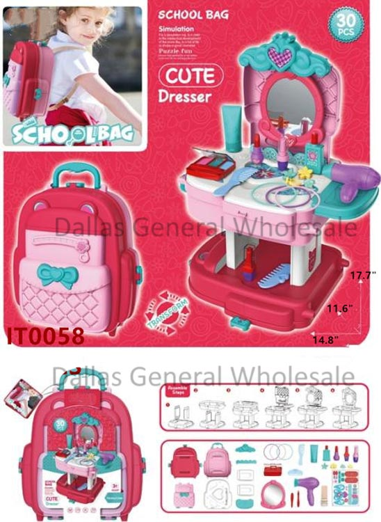 Toy Beauty 2-in-1 Backpack & Dresser Set Wholesale