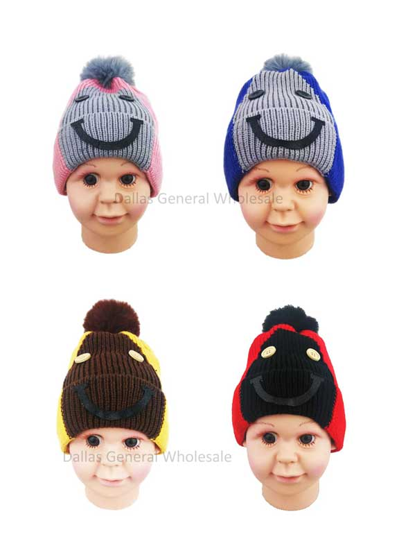 Toddlers Cute Fur Lining Beanie Hats Wholesale - Dallas General Wholesale