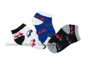 Baby Boys Casual Ankle Socks Wholesale - Dallas General Wholesale